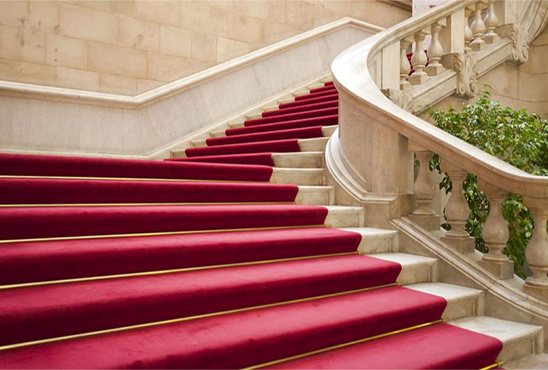 Nettoyage chemins d'escaliers