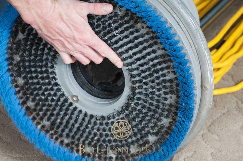 Nettoyage de moquette à sec